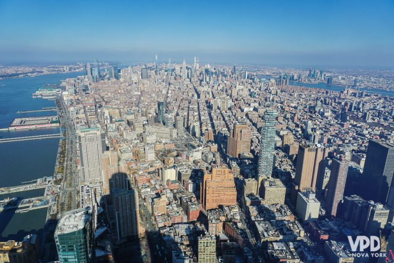 Foto da cidade vista do One World Observatory, no WTC