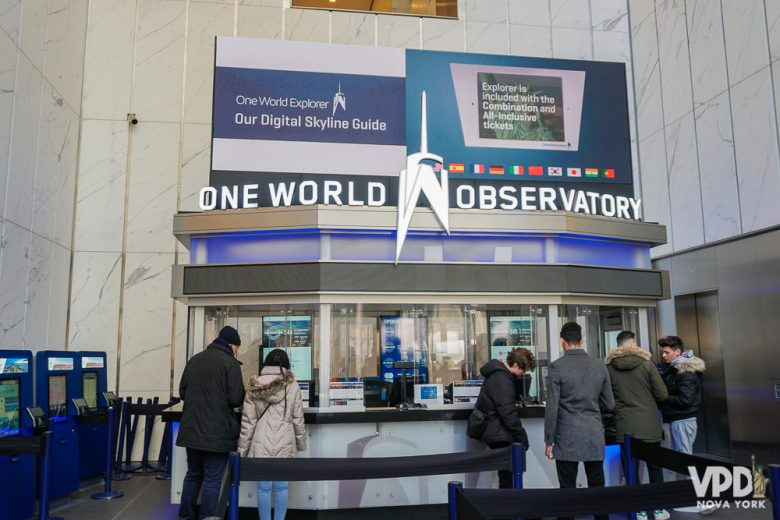 Foto da bilheteria do One World Observatory